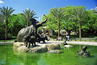 Elephant statues, Zoological Gardens, Audubon Park, New Orleans, Louisiana, United States of America, North America