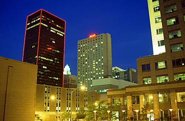 Downtown skyline, Des Moines, Iowa, United States of America, North America