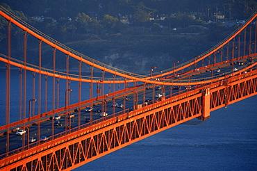 Golden Gate Bridge viewed from Marin Headlands, San Francisco, California, United States of America, North America