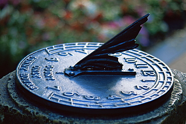Sundial in Shakespeare's Garden, Golden Gate Park, San Francisco, California, United States of America, North America