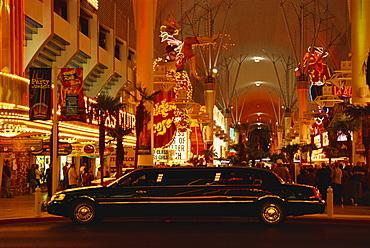 Limousine, Fremont Street, Las Vegas, Nevada, United States of America, North America