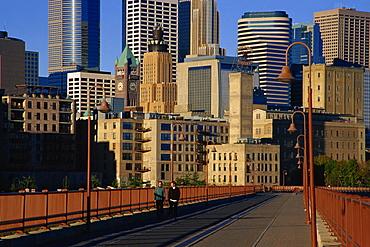 Stone Arch Bridge, Minneapolis, Minnesota, United States of America, North America