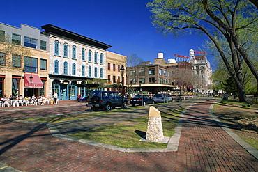 Main street, historic Eastside Milling area, Minneapolis, Minnesota, United States of America, North America