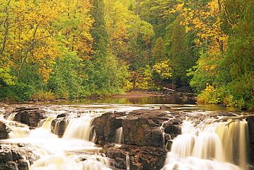 Upper Falls, Gooseberry Falls State Park, North Shore Lake Superior, Minnesota, United States of America, North America