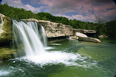 Lower McKinney Falls, McKinney Falls State Park, Austin, Texas, United States of America, North America