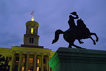 Andrew Jackson statue, State Capitol Building, Nashville, Tennessee, United States of America, North America