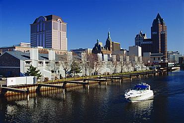 Milwaukee River, Downtown Milwaukee, Wisconsin, United States of America, North America