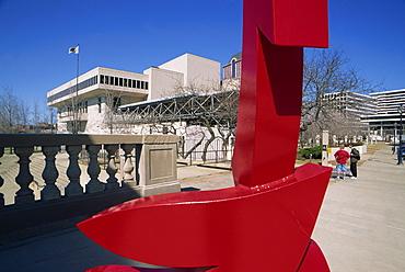 Performing Arts Center and Kilbourn Avenue Bridge sculpture, Milwaukee, Wisconsin, United States of America, North America