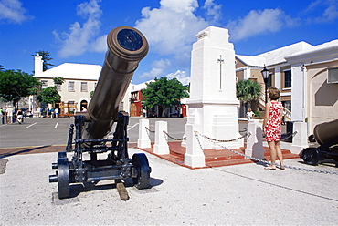 Royal Garrison Artillery monument, Kings Square, St. George, Bermuda, Central America