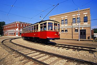 Streetcar, Fort Edmonton Park, Edmonton, Alberta, Canada, North America