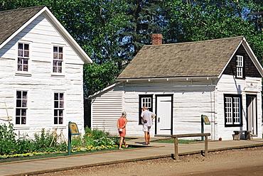 Street scene circa 1885, Fort Edmonton Park, Edmonton, Alberta, Canada, North America