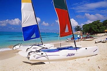 Sail boat, Conroy Beach, Montego Bay, Jamaica, West Indies, Caribbean, Central America