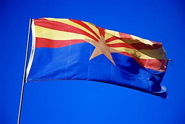 Arizona state flag, Arizona, United States of America, North America