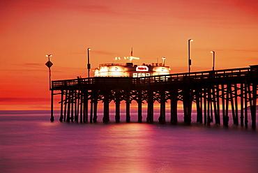 Balboa Island pier, Newport Beach, southern California, California, United States of America, North America