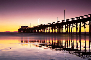 Newport Beach pier, Orange County, southern California, California, United States of America, North America