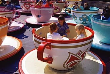 Tea cup ride, Disneyland, Anaheim, Orange County, California, United States of America, North America