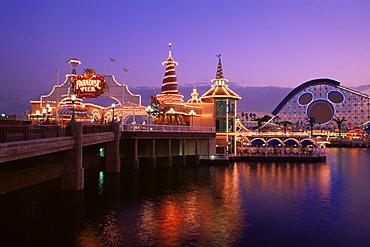 Paradise Pier, Disney's California Adventure, Anaheim, California, United States of America, North America