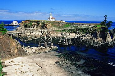 Cape Arago lighthouse, Charleston, Oregon, United States of America, North America