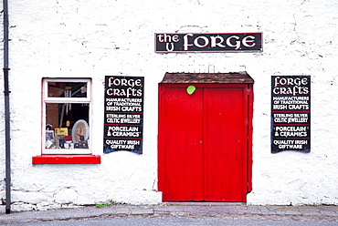 The Forge craft store, Leenane Village, County Mayo, Connacht, Republic of Ireland, Europe - 777-599