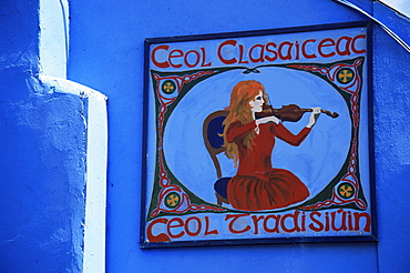 Music sign, Roscrea Town, County Tipperary, Munster, Republic of Ireland, Europe