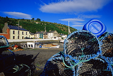 Lobster pots, Passage East village, County Waterford, Munster, Republic of Ireland, Europe