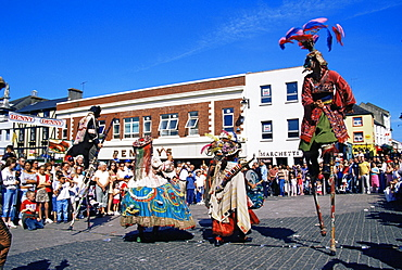 Teatro due Mondi, annual Spraoi Street Festival, City of Waterford, County Waterford, Munster, Republic of Ireland, Europe