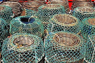 Lobster pots, Hobart City Docks, Hobart, Tasmania, Australia, Pacific