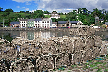 Lobster pots, Bantry Town, County Cork, Munster, Republic of Ireland, Europe