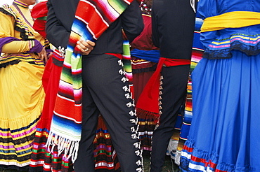 Mexican dancers, Cinco de Mayo festival, Old Town State Historical Park, San Diego, California, United States of America, North America