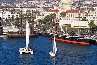 Star of India sailing ship, Maritime Museum, San Diego Harbor, California, United States of America, North America