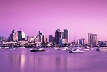 City skyline, San Diego, California, United States of America, North America
