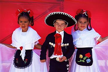 Mexican children, Cinco de Mayo festival, Old Town, San Diego State Historic Park, California, United States of America, North America