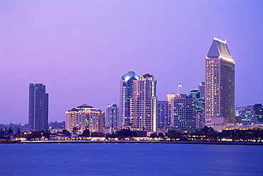City skyline in 2004 viewed from Coronado Island, San Diego, California, United States of America, North America