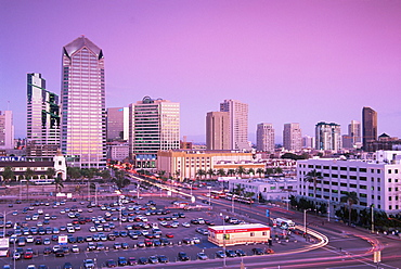 City skyline in 2004, San Diego, California, United States of America, North America