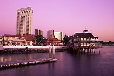 Pier cafe, Seaport village, San Diego, California, United States of America, North America