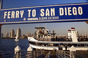 Ferry, Coronado Island, San Diego, California, United States of America, North America