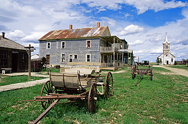 Ghost Town Museum dating from 1880, used in the film Dances with Wolves, Murdo area, South Dakota, United States of America, North America