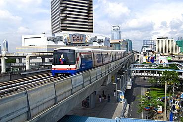 BTS Skytrain, Bangkok, Thailand, Southeast Asia, Asia