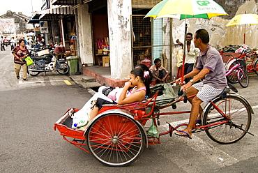 Trishaw, Georgetown, Penang, Malaysia, Southeast Asia, Asia