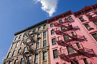 Fire escapes, Soho, Manhattan, New York, United States of America, North America