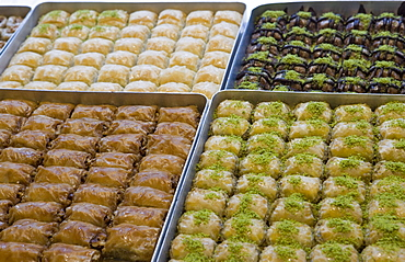 Baklava for sale, Istanbul, Turkey, Europe