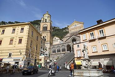 The Duomo Cattedrale Sant' Andrea in Amalfi, Costiera Amalfitana, UNESCO World Heritage Site, Campania, Italy, Europe