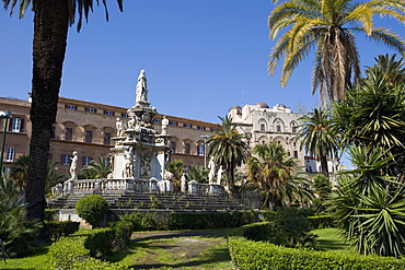 Palazzo dei Normanni, Piazza della Vittoria, Palermo, Sicily, Italy, Europe