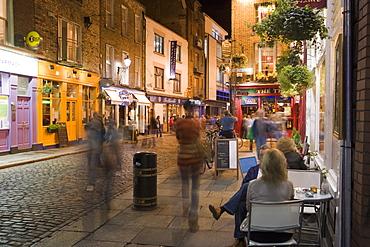 Cafe, Temple Bar, evening, Dublin, Republic of Ireland, Europe