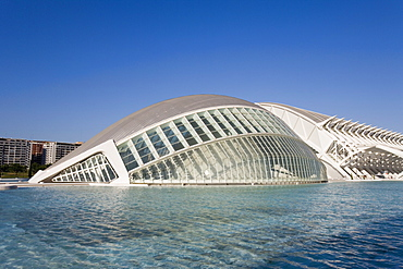 L'Hemisferic, The Hemisphere, IMAX, Cinema, Ciutat de les Arts i de les Ciencies, City of Arts and Sciences, Valencia, Mediterranean, Costa del Azahar, Spain, Europe