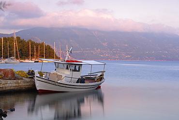 Fiscardo harbour, Kefalonia (Cephalonia), Ionian Islands, Greek Islands, Greece, Europe