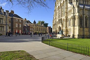 South Piazza, South Transept of York Minster, York, Yorkshire, England, United Kingdom, Europe