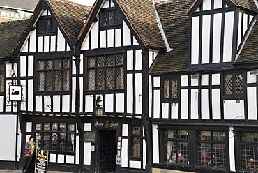 The 15th century half-timbered Black Swan Public house, Peasholme Green, York, Yorkshire, England, United Kingdom, Europe