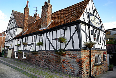 The 13th century half-timbered Red Lion public house, Merchant Place, York, Yorkshire, England, United Kingdom, Europe