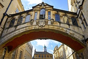 The Hertford Bridge, also known as the Bridge of Sighs, Oxford, Oxfordshire, England, United Kingdom, Europe